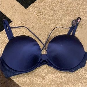 Victoria's Secret Bombshell Adds 2 Cups Navy Bra